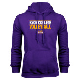 Purple Fleece Hood-Knox College Volleyball Stacked