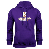 Purple Fleece Hood-Knox College Volleyball Can You Dig It