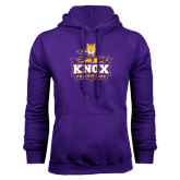 Purple Fleece Hood-Knox Mascot Logo