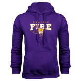 Purple Fleece Hood-Praire Fire Mascot Logo