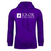 Purple Fleece Hoodie-Institutional Logo