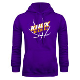 Purple Fleece Hoodie-Knox Basketball w/Ball