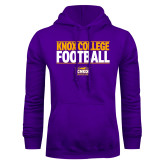 Purple Fleece Hoodie-Knox College Football Stacked