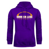 Purple Fleece Hoodie-Knox College Football Horizontal