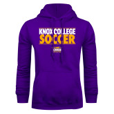 Purple Fleece Hoodie-Knox College Soccer Stacked