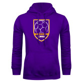 Purple Fleece Hoodie-Knox Soccer Shield