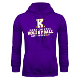 Purple Fleece Hoodie-Knox College Volleyball Can You Dig It