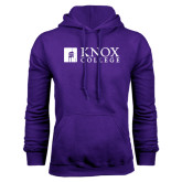 Purple Fleece Hood-Institutional Logo