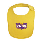 Yellow Baby Bib-Prairie Fire Logo