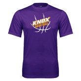 Syntrel Performance Purple Tee-Knox Basketball w/Ball
