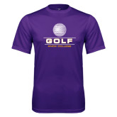 Syntrel Performance Purple Tee-Knox College Golf Stacked w/Ball
