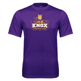Syntrel Performance Purple Tee-Knox Mascot Logo
