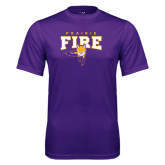 Syntrel Performance Purple Tee-Praire Fire Mascot Logo