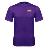 Syntrel Performance Purple Tee-Prairie Fire Logo