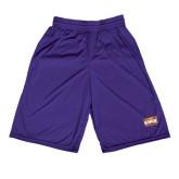 Midcourt Performance Purple 9 Inch Game Short-Prairie Fire Logo