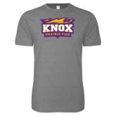 Next Level SoftStyle Heather Grey T Shirt-Prairie Fire Logo