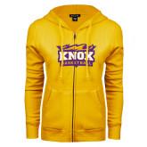 ENZA Ladies Gold Fleece Full Zip Hoodie-Basketball