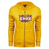 ENZA Ladies Gold Fleece Full Zip Hoodie-Soccer
