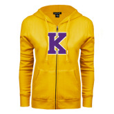 ENZA Ladies Gold Fleece Full Zip Hoodie-K