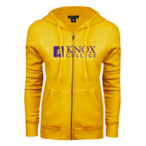 ENZA Ladies Gold Fleece Full Zip Hoodie-Institutional Logo