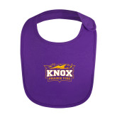 Purple Baby Bib-Prairie Fire Logo