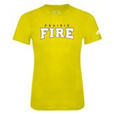 Adidas Gold Logo T Shirt-Prairie Fire