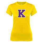 Ladies Syntrel Performance Gold Tee-K