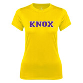 Ladies Syntrel Performance Gold Tee-Knox