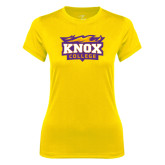 Ladies Syntrel Performance Gold Tee-Knox College Logo