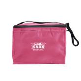 Six Pack Pink Cooler-Prairie Fire Logo