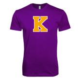 Next Level SoftStyle Purple Rush T Shirt-K