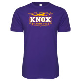Next Level SoftStyle Purple T Shirt-Prairie Fire Logo