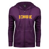 ENZA Ladies Purple Fleece Full Zip Hoodie-Knox