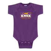Purple Infant Onesie-Prairie Fire Logo