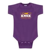 Purple Infant Onesie-Prairie Fire Logo