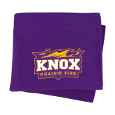 Purple Sweatshirt Blanket-Prairie Fire Logo