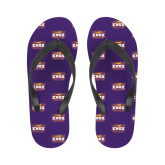 Ladies Full Color Flip Flops-Prairie Fire Logo