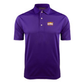 Purple Dry Mesh Polo-Prairie Fire Logo