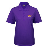 Ladies Easycare Purple Pique Polo-Prairie Fire Logo