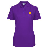 Ladies Easycare Purple Pique Polo-K