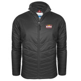 Columbia Mighty LITE Charcoal Jacket-Prairie Fire Logo