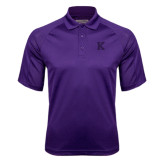 Purple Textured Saddle Shoulder Polo-K