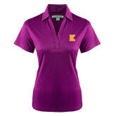 Ladies Purple Performance Fine Jacquard Polo-K