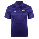 Adidas Climalite Purple Jaquard Select Polo-Prairie Fire Logo