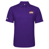 Adidas Climalite Purple Game Time Polo-Prairie Fire Logo