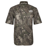 Camo Short Sleeve Performance Fishing Shirt-Prairie Fire Logo