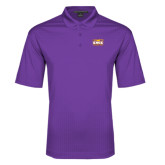 Purple Performance Fine Jacquard Polo-Prairie Fire Logo