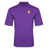 Purple Performance Fine Jacquard Polo-K