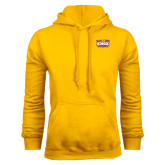Gold Fleece Hood-Prairie Fire Logo