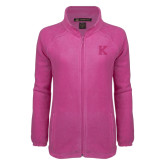 Ladies Fleece Full Zip Raspberry Jacket-K